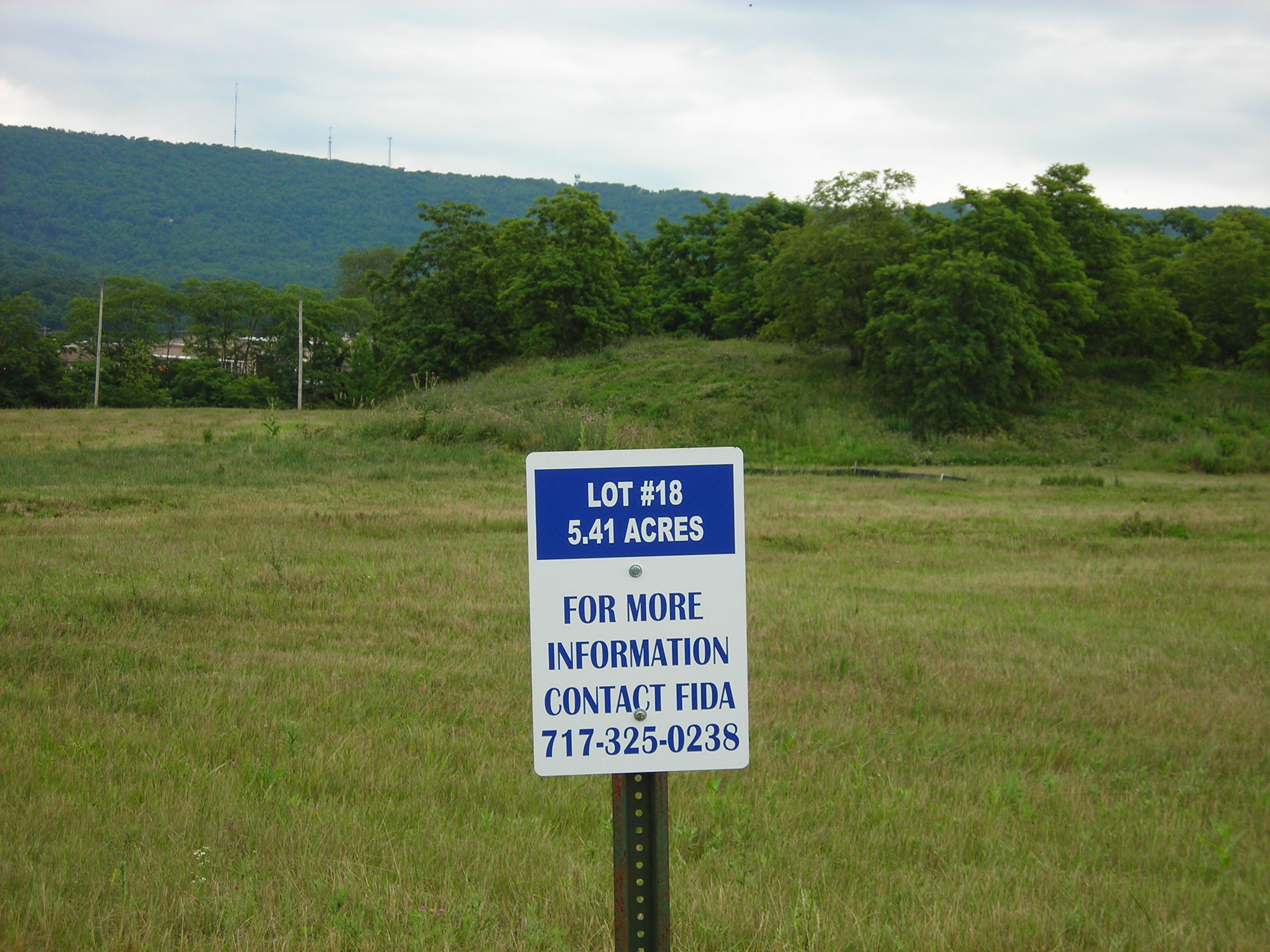 Lot #18 contains 5.41 acres ready to develop.